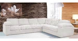 Sofa Online Shopping Camden Fabric Corner Sofa 3 Corner 2 White