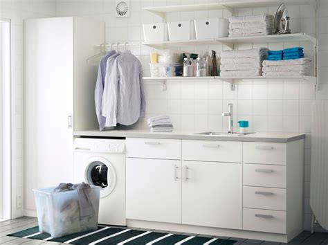 utility room wall cabinets a laundry room with white wall shelves base cabinets with