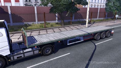 flat bed trailer flatbed trailer pack by manu euro truck simulator 2 mods