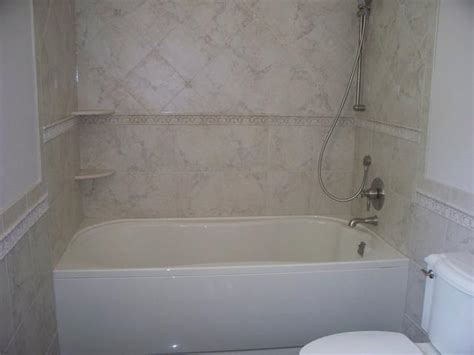 On Bathtub by Tub Tile Remodel