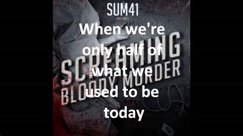 testo pieces sum 41 with me sum 41 lyrics wallpapers images frompo