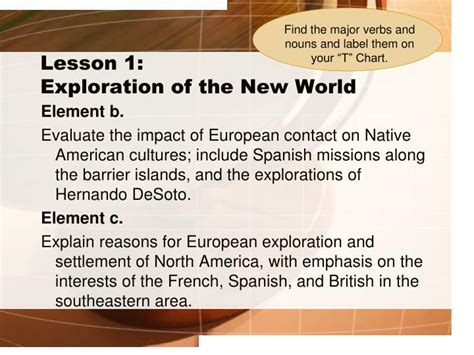 European Exploration Of The New World Essay by Ppt Unpacking The Standards Exploration And Colonization Powerpoint Presentation