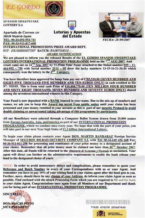 Divorce Letter Lottery Won lottery scams spain best free home