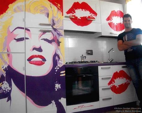 Marilyn Decor Ideas by Marilyn Pop Kitchen Mural