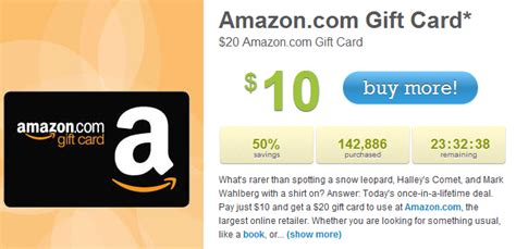 Living Social Gift Cards - living social get a 20 amazon gift card for 10