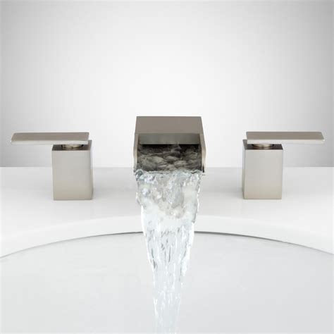 waterfall bathtub faucets willis widespread waterfall faucet bathroom sink faucets