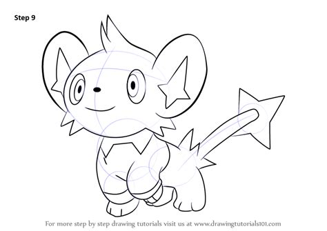 pokemon coloring pages shinx step by step how to draw shinx from pokemon