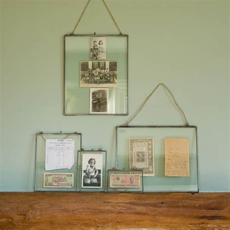 how to hang picture frames that have no hooks zinc hanging photo frame by all things brighton beautiful