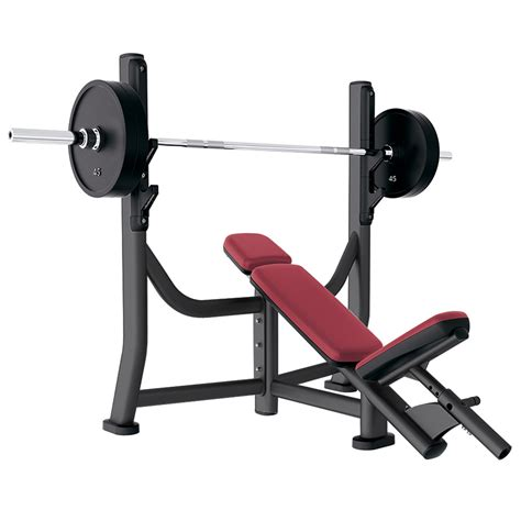 incline bench 30 degrees life fitness signature olympic incline bench used gym