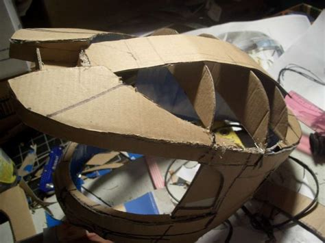 How To Make A Halo Helmet Out Of Paper - cardboard fiberglass halo 3 inspired master chief costume 5