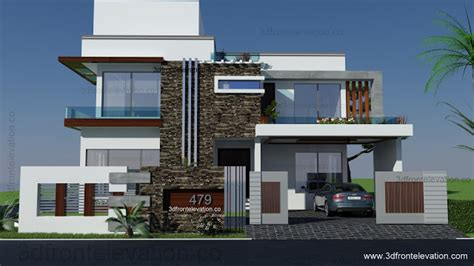 150 yard home design 3d front elevation com lahore