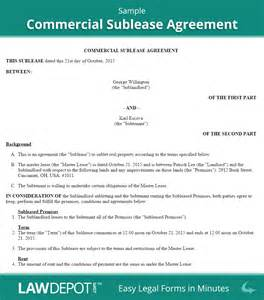 Commercial Rental Contract Template by Sublease Agreement Free Commercial Sublease Contract Us
