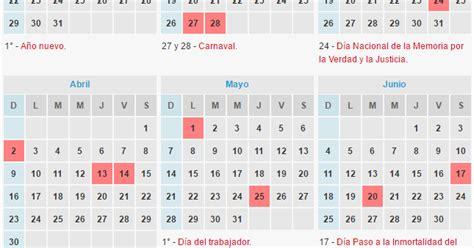 Calendario 2017 Con Sus Feriados Calendario De Feriados 2017 Ignacio