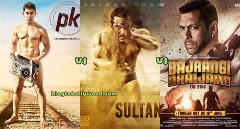 pk film one day collection sultan vs bajrangi bhaijaan vs pk vs dhoom 3 box office
