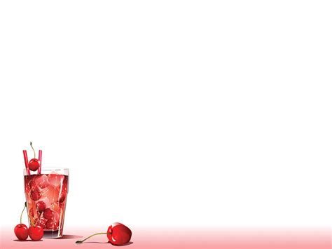 cherry fruits beverage ppt backgrounds 1024x768