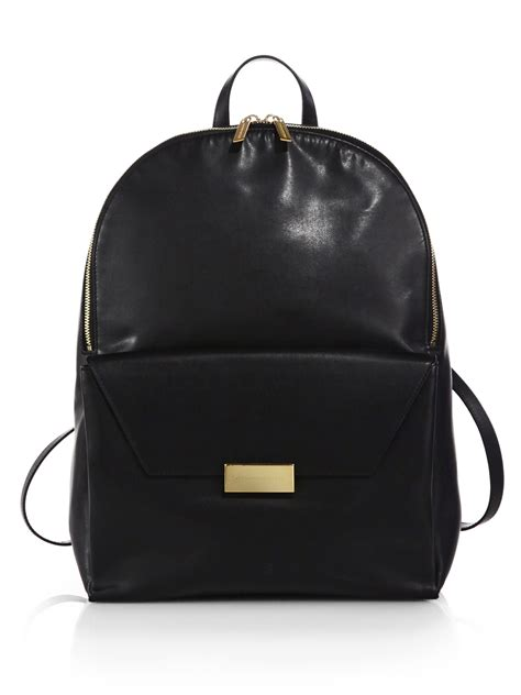 Faux Leather Backpack leather backpack os backpacks
