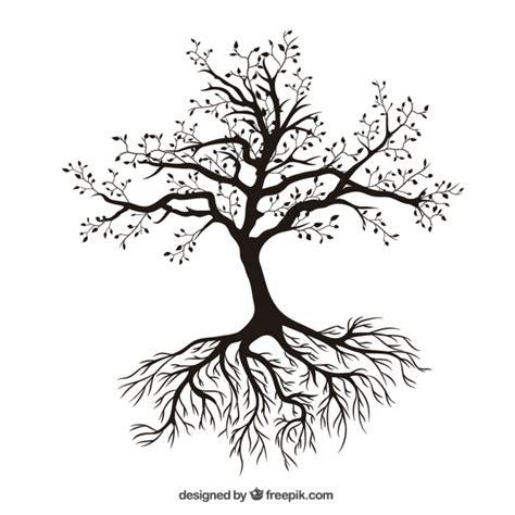 Kostenlose Vorlage Baum Baum Mit Wurzeln Der Kostenlosen Vektor