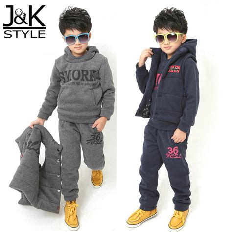 toddler boy winter clothes thick winter warm children boys clothing set clothes
