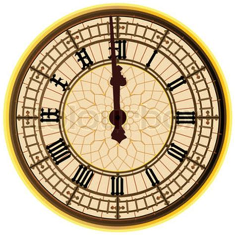 printable midnight clock a detailed illustration of the big ben clock face striking