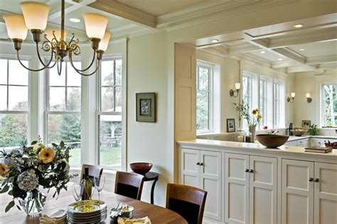ceiling room dividers dining room traditional with arch