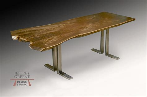 L For Dining Table Slender L Live Edge Dining Table Jeffrey Greene