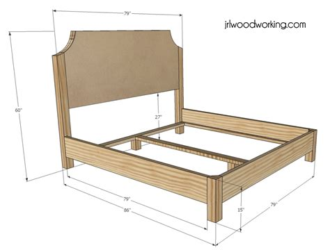 king bed frame plans king size log bed frame plans 187 woodworktips