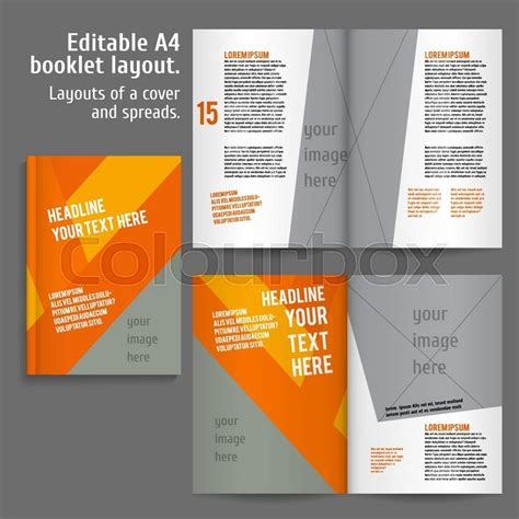 book interior layout template a4 book layout design template with cover and 2 spreads of