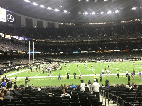 superdome sections superdome section 121 new orleans saints rateyourseats com