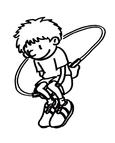 jump rope coloring coloring pages