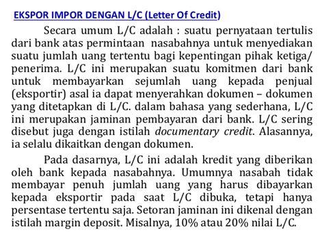 Dokumen Letter Of Credit Prosedur Ekspor Dengan Letter Of Credit L C Materi Quot Export Import Quot
