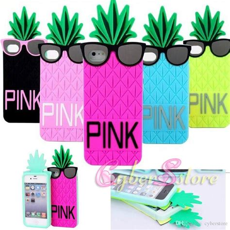 Pink Pineapple Silicone Softcase Apple Iphone 55s for iphone 6 4 7 inch 3d pink pineapple silicone cover for iphone6 4 7 6g i6
