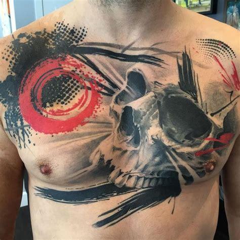 chest tattoo trash polka 46 trash polka tattoo ideas of designs 2017
