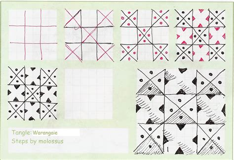 easy zentangle pattern ideas step by step my tangle pattern warangaie
