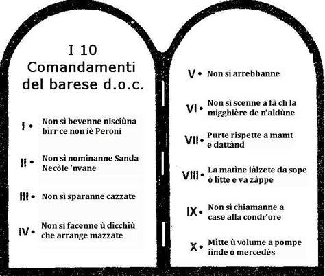 tavola dei dieci comandamenti i 10 comandamenti barese d o c camin vattin
