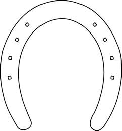Outline Of A Horseshoe by Shoe Outline Clip At Clker Vector Clip Royalty Free Domain