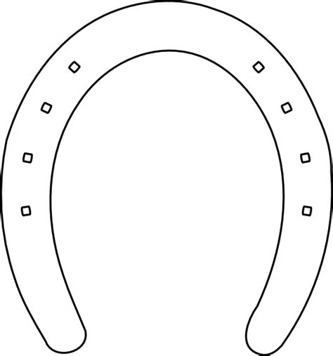 horseshoe template shoe outline clip at clker vector clip