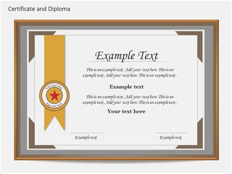certificate design in ppt award certificate template powerpoint chatback