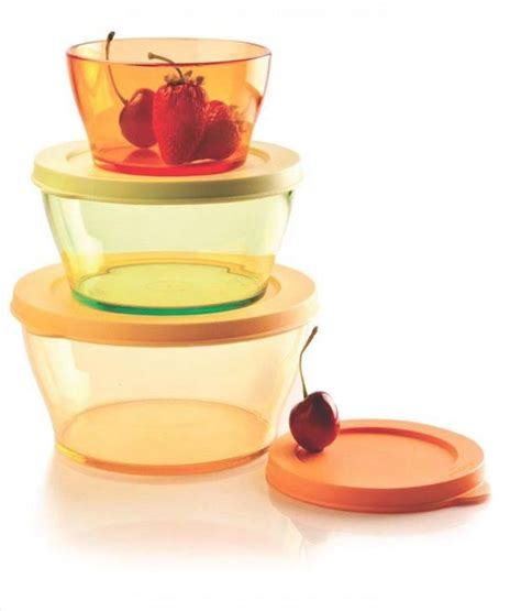 Clear Bowl Set 3pcs Tupperware tupperware clear bowl set plastic containers 3 pcs buy