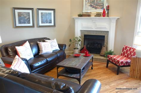 How To Arrange Living Room Furniture With Fireplace And Tv How To Arrange Furniture In A Room With A Corner Fireplace The Decorologist