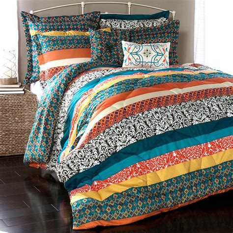 kohls reversible comforter lush decor boho stripe 7 pc reversible from kohl s epic
