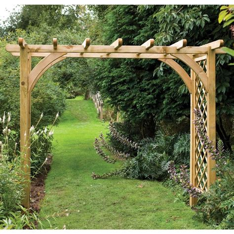 Timber Garden Arch Kits Large Sturdy Square Top Wooden Garden Arch Pergola