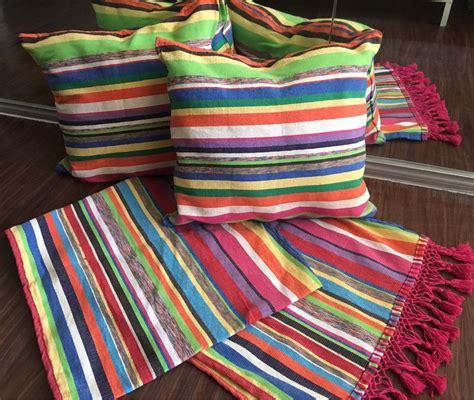 cojines de cama camino de cama y cojines pie de cama mexicano artesanal