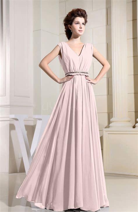 casual wedding dress pink light pink casual v neck sleeveless chiffon pleated