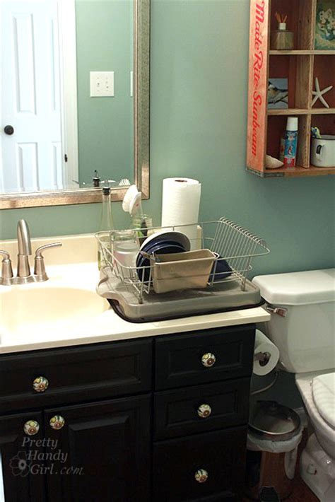 washing dishes in bathroom sink how to survive without a kitchen during renovation