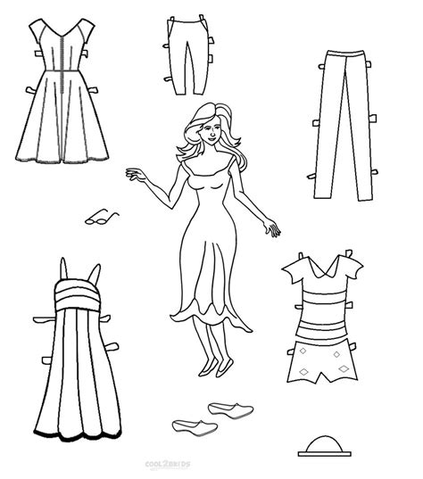 paper doll clothes coloring pages coloring pages