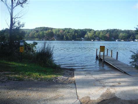 dnr boat launch clam lake dnr access site michigan water trails