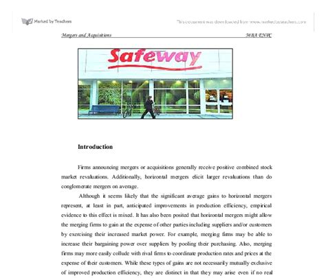 Takeovers And Mergers Essay by Mergers Acquisitions Essay Mergersandacquisitionstrategies Org