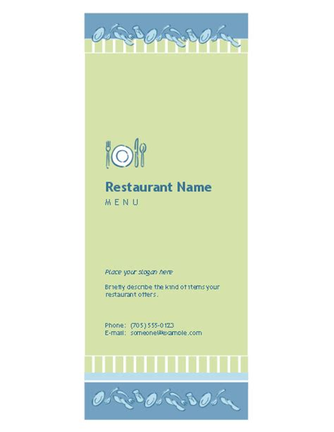 microsoft office menu templates restaurant menu template free menu templates ms office