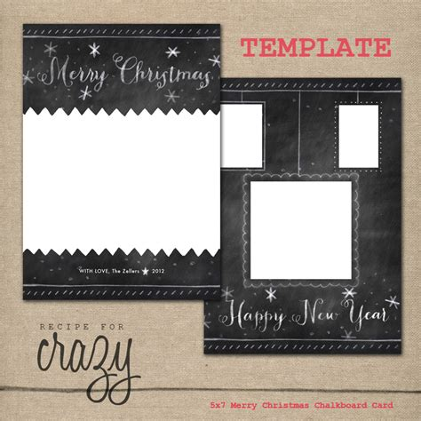 chalkboard card template recipe for card templates for
