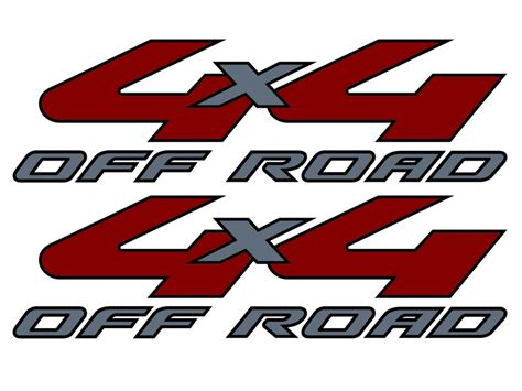 Ford 4x4 Decals by Vinylmark 2008 2009 2010 08 09 10 4x4 Decals For